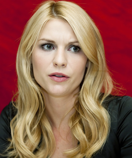 Claire Danes Long Wavy Casual Hairstyle - Medium Blonde Hair Color