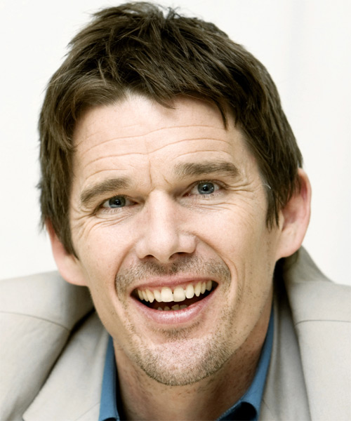 Ethan Hawke - Casual Short Straight Hairstyle