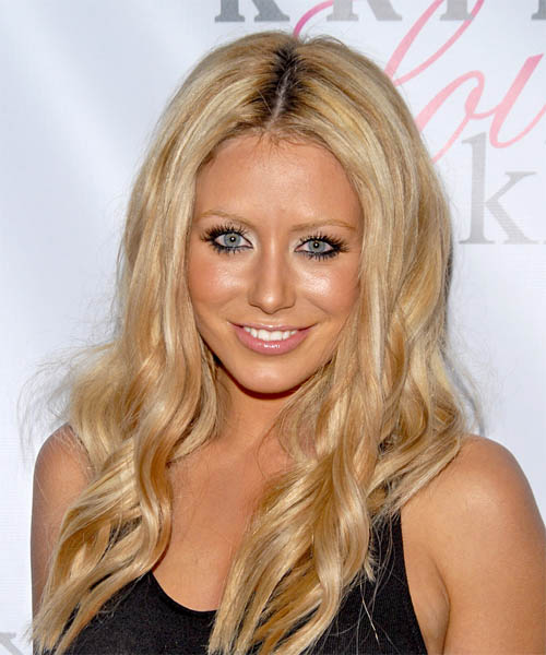 Aubrey O Day Long Wavy Casual Hairstyle