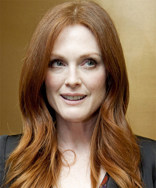 Julianne Moore - Casual Long Straight Hairstyle