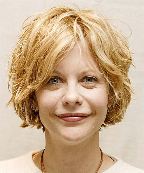 Meg Ryan Short Wavy Hairstyle