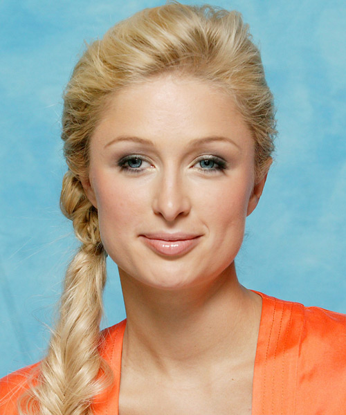 Paris Hilton - Casual Updo Long Curly Hairstyle