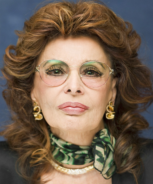Sophia Loren Medium Wavy Formal Hairstyle