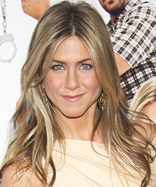 Jennifer Aniston Long Straight Hairstyle - Dark Blonde (Ash)