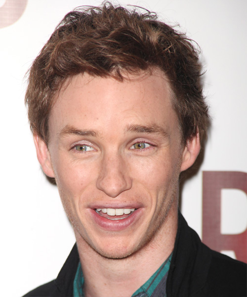 Eddie Redmayne - Casual Short Wavy Hairstyle