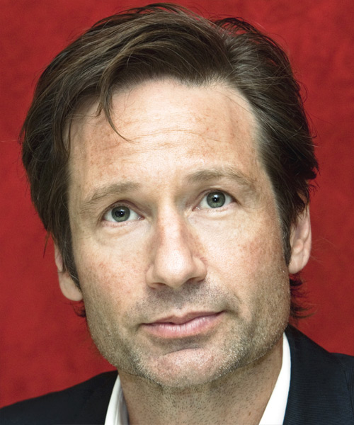 David Duchovny Short Straight Hairstyle