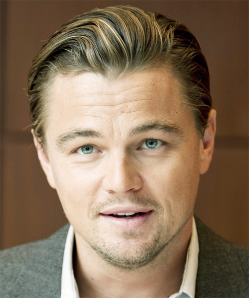 Leonardo DiCaprio Short Straight Formal Hairstyle - Dark Blonde Hair Color