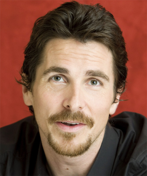 Christian Bale Short Wavy Casual Hairstyle