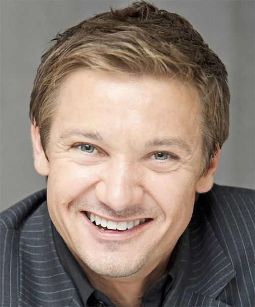 Jeremy Renner - Formal Short Straight Hairstyle