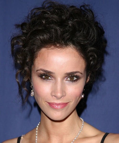 Abigail Spencer Formal Curly Updo Hairstyle