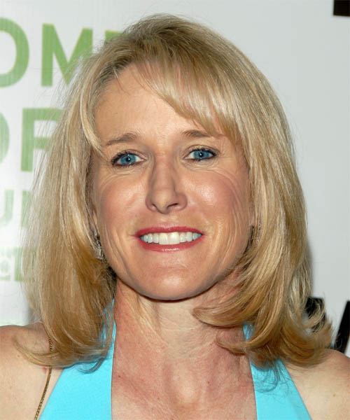 Tracy Austin Medium Straight Hairstyle