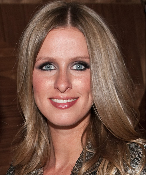 Nicky Hilton Long Straight Casual Hairstyle - Medium Brunette (Chestnut) Hair Color