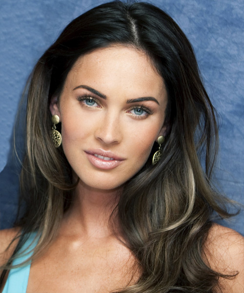 Megan Fox - Casual Long Straight Hairstyle