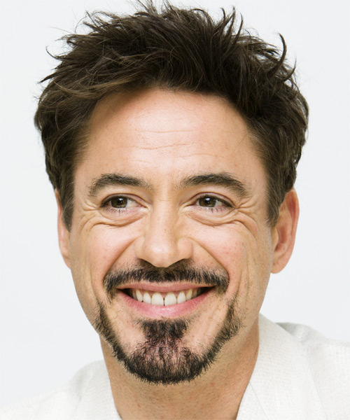 Robert Downey Jr Short Straight Hairstyle