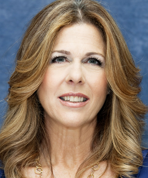 Rita Wilson Long Wavy Casual Hairstyle