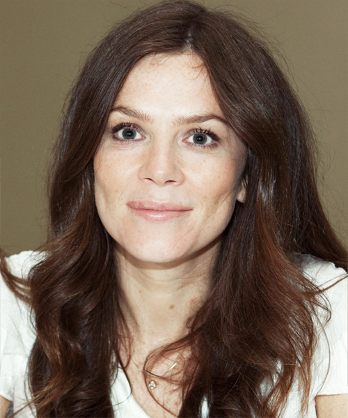 Anna Friel Long Wavy Hairstyle - Medium Brunette (Chocolate)