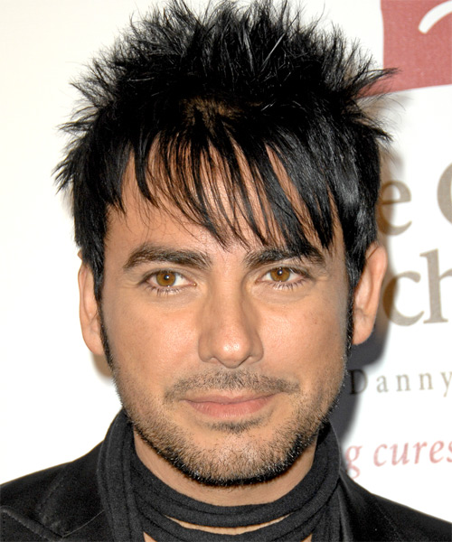 Beto Cuevas Short Straight Hairstyle - Black