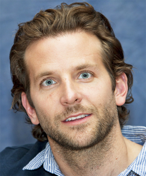 Bradley Cooper Short Wavy Hairstyle - Light Brunette