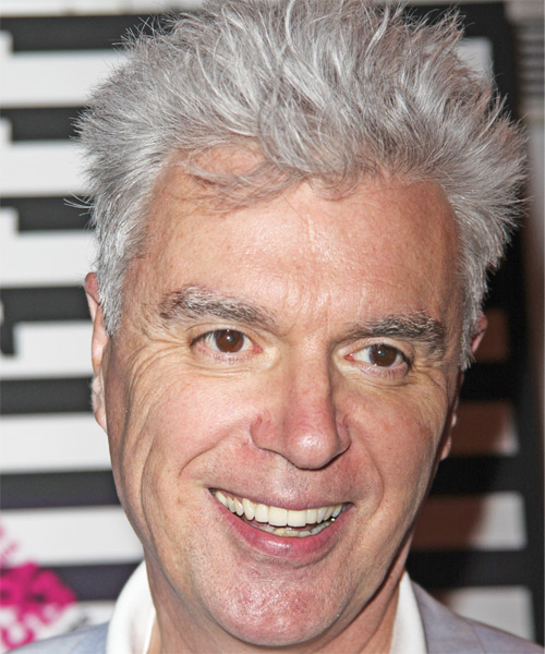 David Byrne Short Straight Hairstyle
