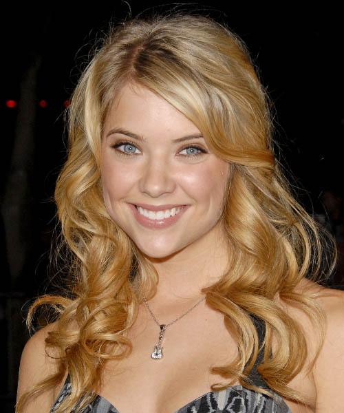 Ashley Benson - Formal Long Wavy Hairstyle