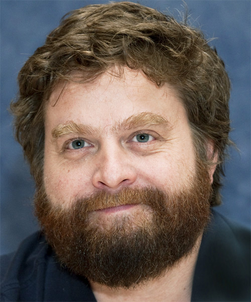 Zach Galifianakis Short Wavy Hairstyle