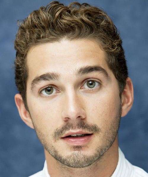 Shia LaBeouf Short Wavy Formal Hairstyle