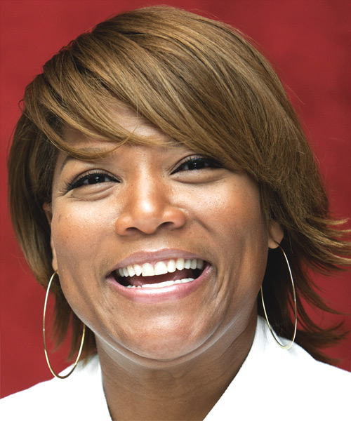 Queen Latifah Short Straight Hairstyle