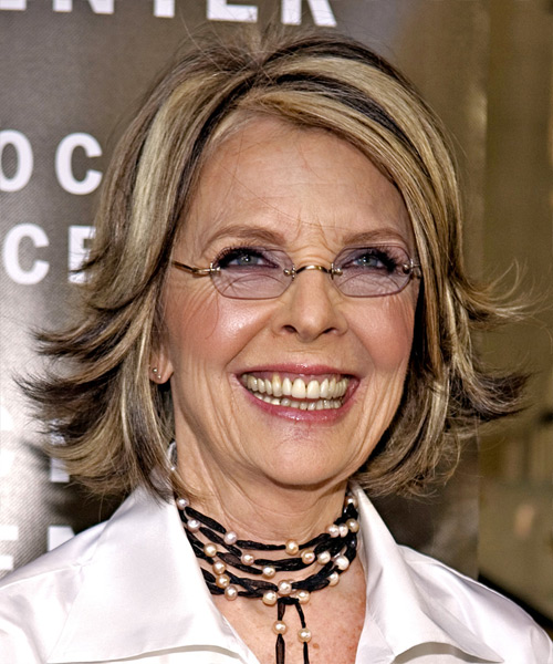Diane Keaton hairstyle with glasses