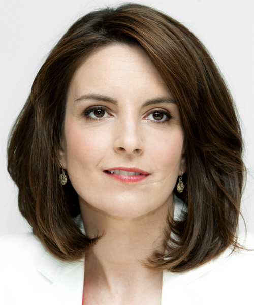 Tina Fey Medium Straight Hairstyle