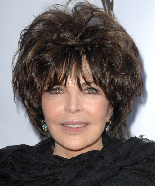 Carole Bayer Sager Short Wavy Hairstyle
