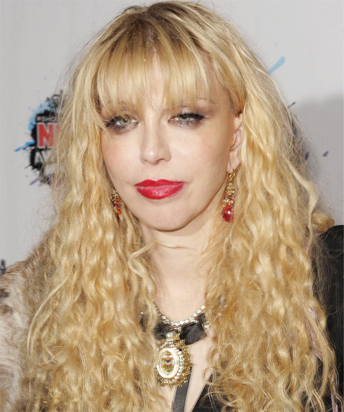 Courtney Love Long Wavy Hairstyle