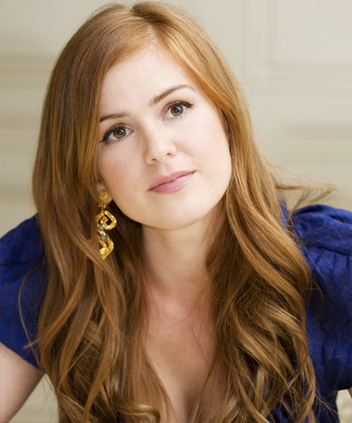 Isla Fisher Long Wavy Casual Hairstyle