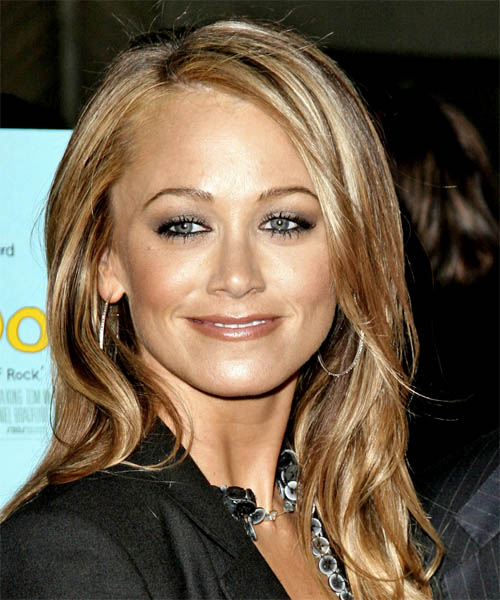 Christine Taylor Long Wavy Casual Hairstyle