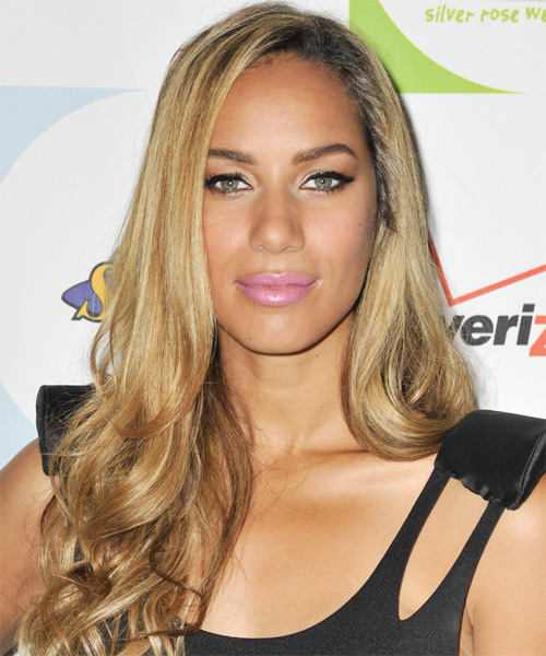 Leona Lewis Long Wavy Formal Hairstyle