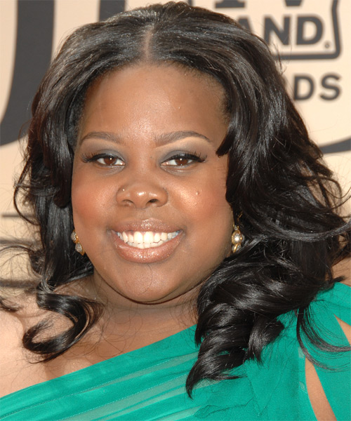 Amber Riley Long Wavy Formal Hairstyle