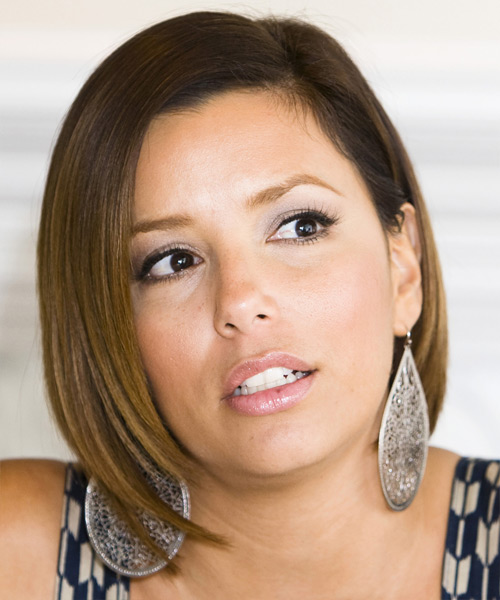 Eva Longoria Parker Medium Straight Formal Bob Hairstyle