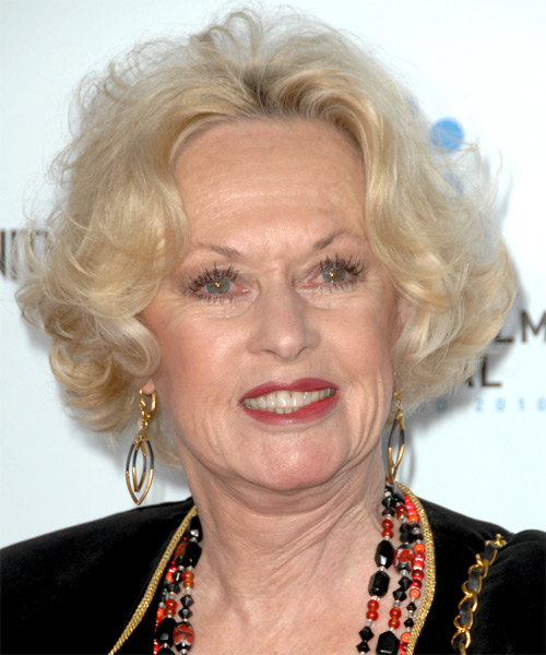 Tippi Hedren Short Wavy Formal Hairstyle