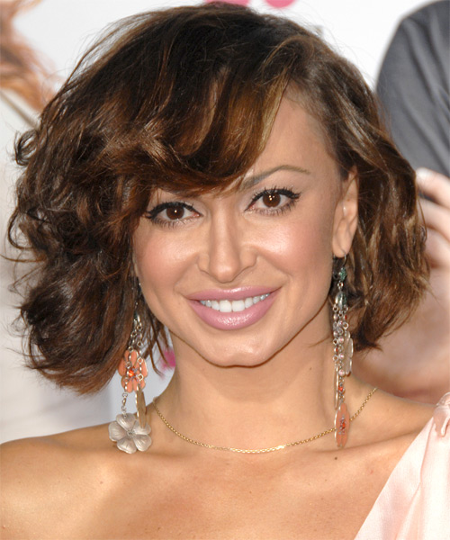 Karina Smirnoff Medium Wavy Hairstyle