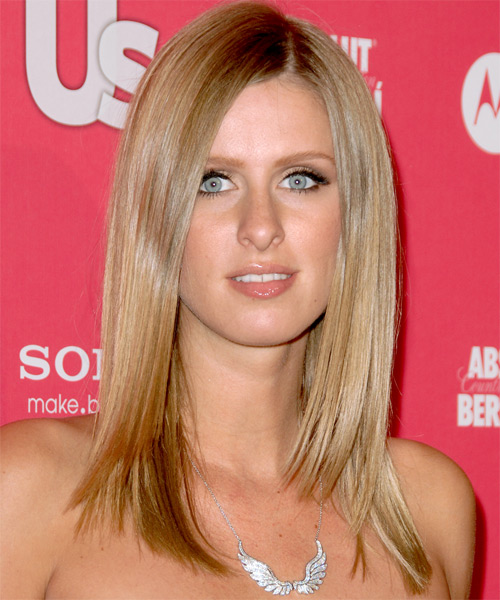 Nicky Hilton Long Straight Hairstyle (Golden)