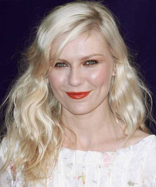 Kirsten Dunst - Casual Long Wavy Hairstyle