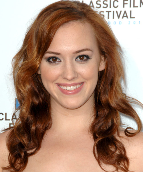 Andrea Bowen  Long Wavy Hairstyle
