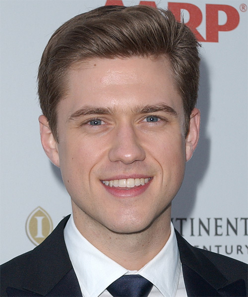 Aaron Tveit Short Straight Hairstyle