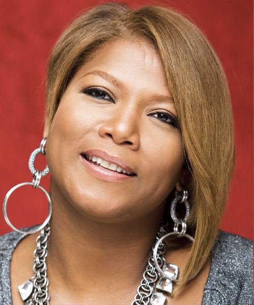 Queen Latifah Medium Straight Hairstyle