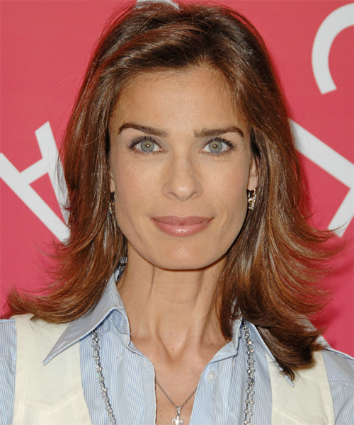Kristian Alfonso - Casual Medium Straight Hairstyle