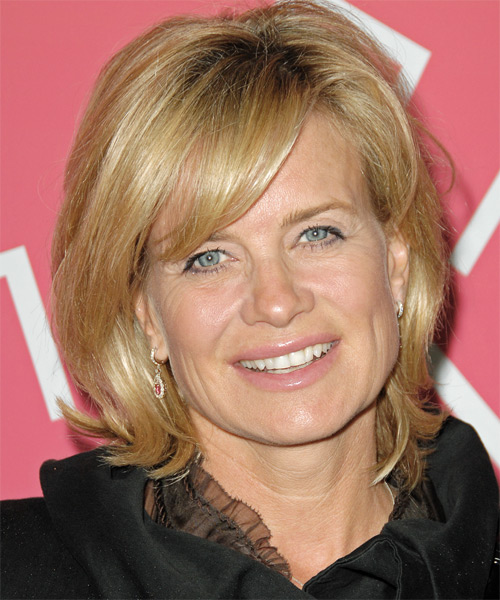 Mary Beth Evans Medium Straight Hairstyle