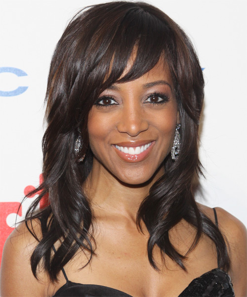 Shaun Robinson Long Wavy Casual Hairstyle