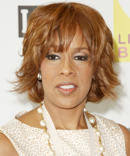 Gayle King Short Straight Hairstyle
