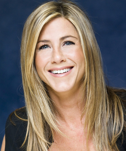 Jennifer Aniston Long Straight Casual Hairstyle - Medium Blonde Hair Color