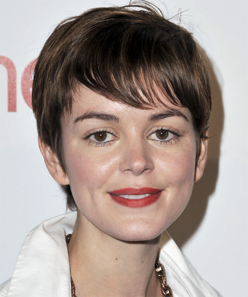 Nora Zehetner - Casual Short Straight Hairstyle