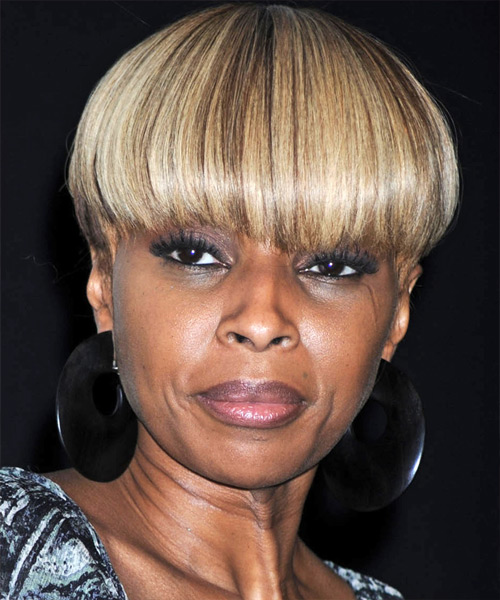 Mary J Blige Short Straight Hairstyle